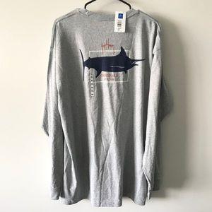 NWT Guy Harvey Long Sleeve T-shirt Crew Neck Gray